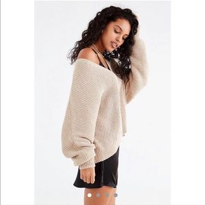 Urban Outfitters V Neck Oversize Chenille Sweater